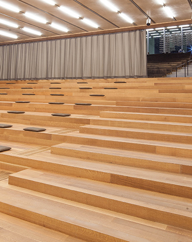 PAMM Auditorium and central stair. 380 x 478